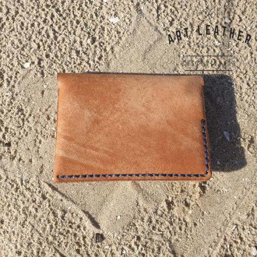 Skórzane etui na karty płatnicze tył