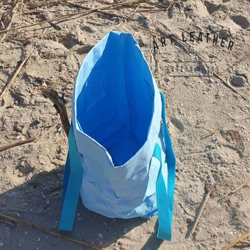 Torba z washpapy błękitna skos