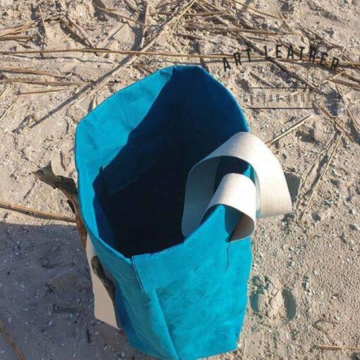 Torba z washpapy granatowa morska góra
