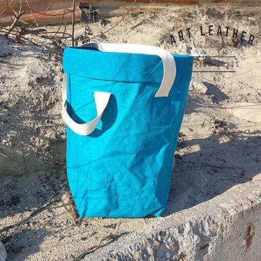 Torba z washpapy granatowa morska murek