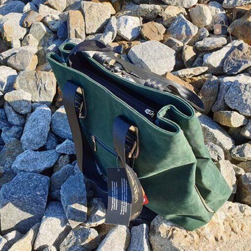 Laura Biaggi butelkowa zieleń zamsz góra