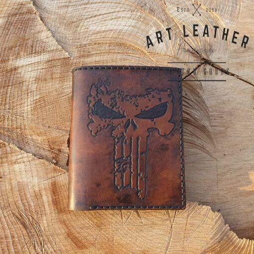 Skórzany portfel męski szyty ręcznie