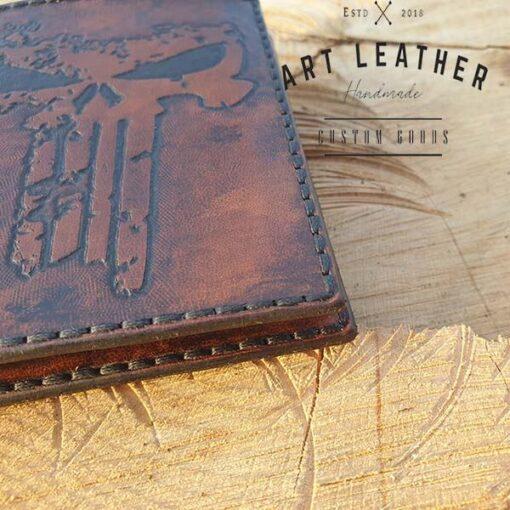 Skórzany portfel męski szyty ręcznie nić