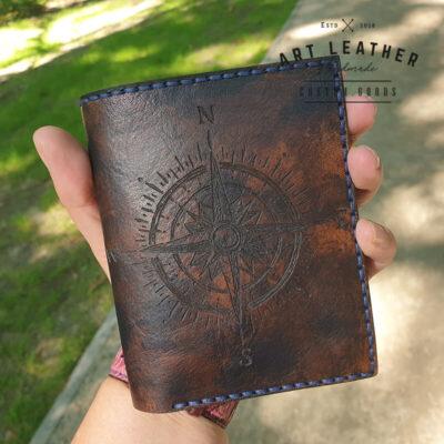 Skórzany portfel Róża Wiatrów