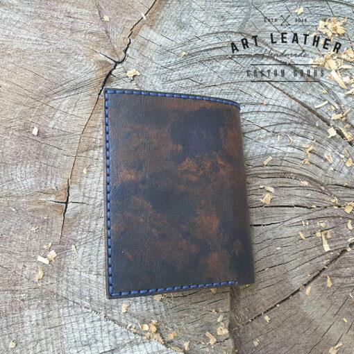 Skórzany portfel Róża Wiatrów tył
