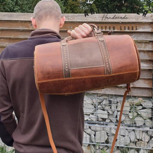 Skórzana torba Arti rozmiar M rączka