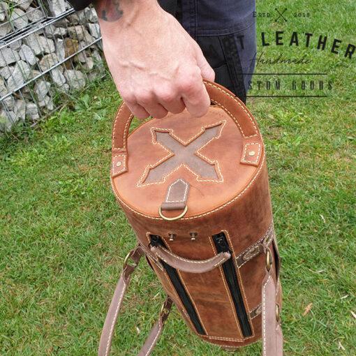 Skórzana torba Arti rozmiar M ręka