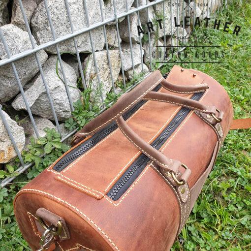 Skórzana torba Arti rozmiar M zamki
