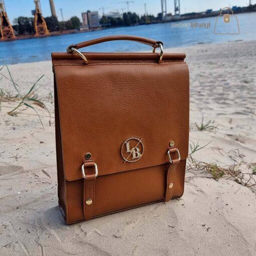 Torebka plecak damski Laura Biaggi logo