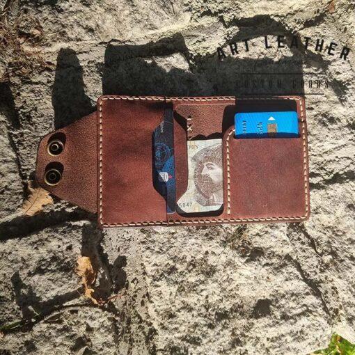 Mały portfel skórzany Handmade