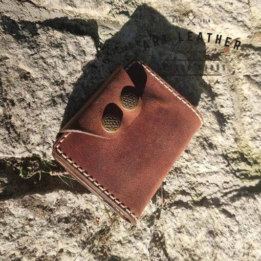 Mały portfel skórzany Handmade napy